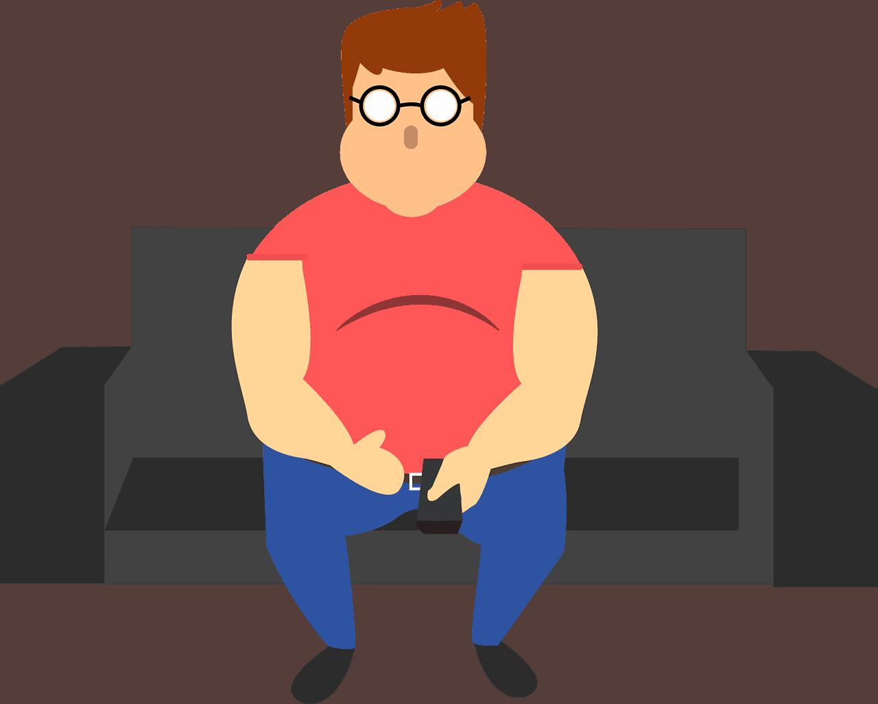 ישיבה על הספה גורמת לכרס